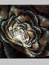 e-home® esticado levou efeito do impressão da arte da flor de flash tela LED piscando impressão de fibra óptica