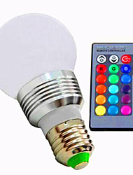 cheap -3W E26/E27 LED Smart Bulbs A60(A19) 1 High Power LED 80 lm RGB / K Dimmable Remote-Controlled AC 85-265 V