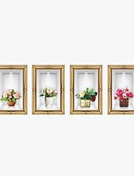 Natale / Floreale / 3D Adesivi murali Adesivi aereo da parete / Adesivi 3D da parete Adesivi decorativi da parete,PVC MaterialeLavabile /