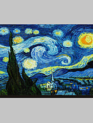cheap -Starry Night c1889 by Vincent Van Gogh Famous Stretched Canvas Print