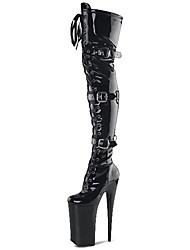 Women's Boots Patent Leather Heels  / Platform / Fashion Boots  /  Party & Evening / Club sexy Super high heels boots