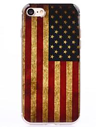 Недорогие -Назначение iPhone 8 iPhone 8 Plus iPhone 7 iPhone 7 Plus iPhone 6 Чехлы панели Прозрачный С узором Задняя крышка Кейс для Флаг Мягкий