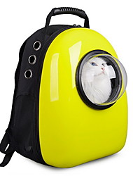 cheap -Cat Dog Carrier & Travel Backpack Astronaut Capsule Carrier Pet Carrier Portable Breathable Cute Solid Gold Yellow Rose Green Blue