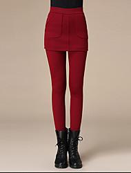 moda de mujer de dos piezas de lana polar color d legging poliéster