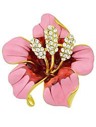 Недорогие -мода красивая эмаль горный хрусталь большой цветок броши для женщин