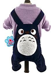 Gato Cachorro Macacão Roupas para Cães Fofo Fashion Desenhos Animados Azul Escuro Marron Vinho Ocasiões Especiais Para animais de