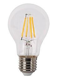 4W E26/E27 Lâmpadas de Filamento de LED A60(A19) 4 leds COB 380lm Branco Quente 2700K Regulável