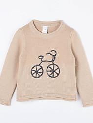 povoljno -Pamuk Jednobojni Dnevno Jesen Džemper i kardigan Svjetlosmeđ