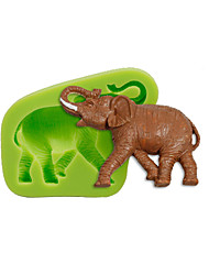 cheap -Animal Elephant Silicone Mold Cake Decoration Sugarcraft Tools Polymer Clay Fimo Fondant Making Color Random