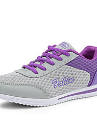 cheap -Women's Shoes Tulle Spring / Summer / Fall Comfort Sneakers Walking Shoes Flat Heel / Platform Lace-up Gray / Purple / Blue
