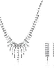 Недорогие -Жен. Набор украшений Свадебные комплекты ювелирных изделий Ожерелье / серьги Стерлинговое серебро Циркон Цирконий На заказ кисточка