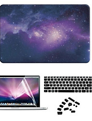 "cheap -Case for Macbook Air 11"" MacBook Pro 13""/15"" with Retina display Cartoon Plastic Material Star Night PVC Hard Case with  Screen Film"