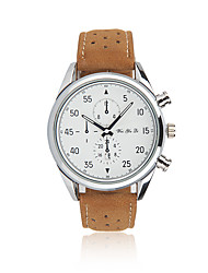 cheap -Men's Wrist Watch Calendar / date / day Leather Band Casual / Fashion Brown