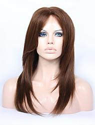 Недорогие -Не подвергавшиеся окрашиванию Бесклеевая кружевная лента Лента спереди Парик Бразильские волосы Прямой Парик Стрижка каскад 130% 150% 180% Плотность волос / Природные волосы / с детскими волосами