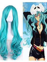 cheap -Synthetic Hair Wigs Wavy Carnival Wig Halloween Wig Cosplay Wig Long Green