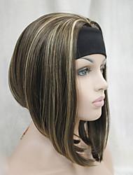 economico -Donna Parrucche sintetiche Senza tappo Lisci Kinky liscia Marrone parrucca mezza Parrucca di Halloween Parrucca di carnevale costumi