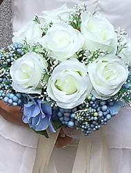 """Недорогие -Свадебные цветы Букеты Свадьба Вечеринка / ужин Satin 9,84""""(около 25см)"""