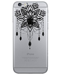 Campanula Openwork Pattern of Strong Relief Printing Material TPU Phone Case for iPhone 7 7plus 6S 6plus