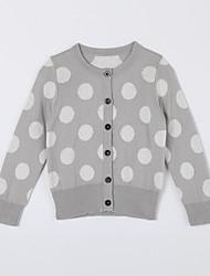povoljno -Pamuk Na točkice Dnevno Jesen Džemper i kardigan Sive boje