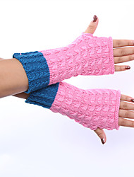 Women's Winter Wool Knitting Pineapple Grain Half Refers To Ms Gloves