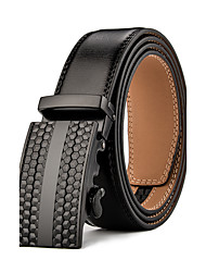 cheap -Mens Business Ratchet Belt Luxurious  Genuine Leather