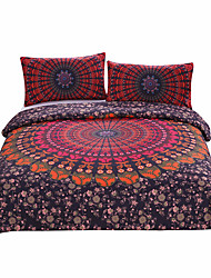 cheap -Duvet Cover Sets Novelty Poly / Cotton Reactive Print 3 Piece