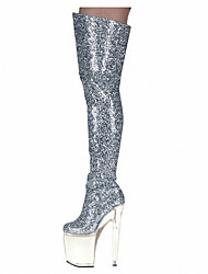 20CM knee boots with high heels / nightclub stage catwalk shows / Women's Boots / Fashion Boots Customized  Party