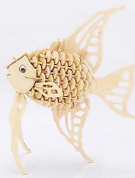 Недорогие -Пазлы 3D пазлы Деревянные пазлы Строительные блоки Игрушки своими руками Рыбки Дерево