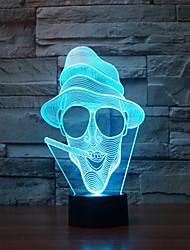 billige -ryger touch dæmpning 3d ledet nat lys 7colorful dekoration atmosfære lampe nyhed belysning lys
