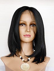 cheap -Synthetic Hair Wigs Straight Natural Hairline Natural Wigs Dark Black Natural Black Dark Brown
