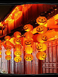 Halloween Pumpkin  Decorations Paper Lantern Bar Is Decorated  Portable Jack Hanging Pumpkin  With a beard  20cm