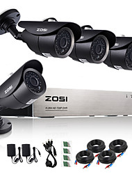 cheap -ZOSI®8CH 720P HDMI AHD CCTV DVR 4PCS 1.0 MP IR Outdoor Security Camera Surveillance System