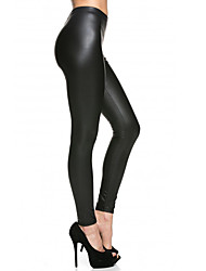Women Solid Color Legging,Polyester Soft Comfortable Breathable