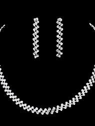 abordables -Femme Set de Bijoux Collier / Boucles d'oreilles Mode Mariage Soirée Boucles d'oreille Colliers décoratifs Bijoux de fantaisie