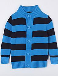 povoljno -Pamuk Prugasti uzorak Dnevno Jesen Džemper i kardigan Plava
