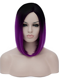 cheap -Black and bright purple,Are partial gradient Harajuku Lolita Lolita COSPplay animation wig.