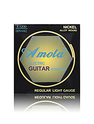 Amola  E1200 009-042  NICKEL ALLOY WOUND Regular Light Gauge Electric Guitar Strings