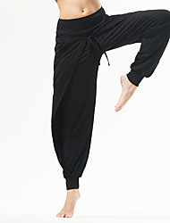 Yoga Pants Pants/Trousers/Overtrousers Breathable / Comfortable Natural Stretchy Sports Wear Gray