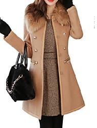 cheap -Women's Going out Street chic Dress Long Sleeves Wool Cotton Winter Medium