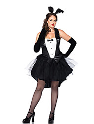 Costumes Bunny Girls Halloween Black Patchwork Terylene Dress / More Accessories