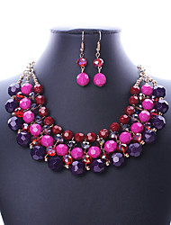 cheap -Women's Jewelry Set - Vintage, European, Fashion Include Necklace / Earrings Purple / Rainbow For Wedding / Party / Daily