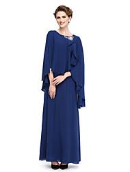 baratos -Bainha / colher de colher com pescoço com comprimento de tornozelo georgette mãe do vestido de noiva por lan ting bride®