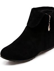 billige -Damer Sko Syntetisk laklæder Kunstlæder Forår Efterår Vinter Cowboy / Western Støvler Militærstøvler Hæle Gang Flad hæl Platå Lynlås Til