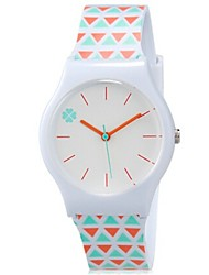 cheap -Kids' Wrist watch Colorful Quartz Plastic Band Candy color Cool Casual Orange Strap Watch
