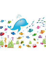 Wall Stickers Wall Decals Style Dolphin Underwater World PVC Wall Stickers