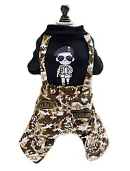 cheap -Dog Jumpsuit Dog Clothes Fashion Camouflage Black Costume For Pets