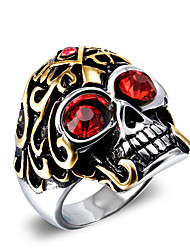 cheap -Men's Statement Ring Vintage Fashion Punk Zircon Titanium Steel Skull Costume Jewelry Christmas Gifts Halloween Daily Casual