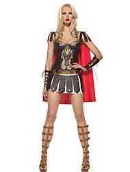 Guerrier Costumes de Cosplay Halloween Fête / Célébration Déguisement d'Halloween Marron Mosaïque