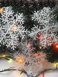 economico -4pcs 10 centimetri impiccagioni natale disegno fiocchi di neve regalo di Natale decorazione dell'albero di Natale