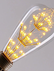 cheap -HRY 1pc 2.5W 250-300 lm E26/E27 LED Filament Bulbs ST64 40 leds High Power LED Decorative Warm White AC 220-240V
